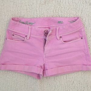 Lilly Pulitzer Pink Jean Shorts